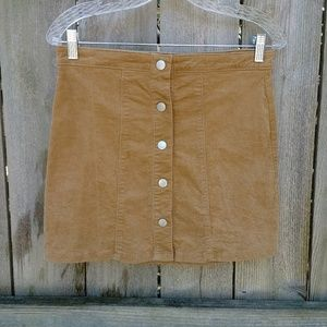 Altar'd State ▪ Tan Button Front Skirt